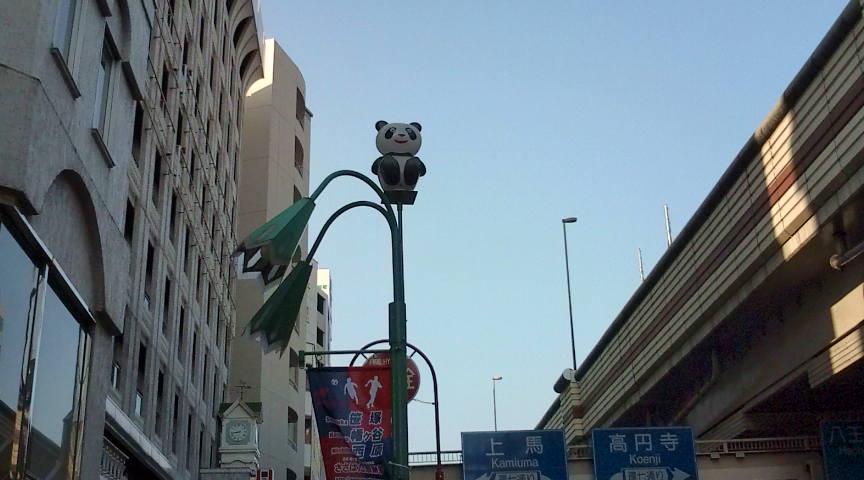 東京でパンダ